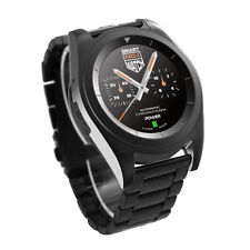 G6 Sport Fitness Tracker Smart Bluetooth Watch for Android iOS Steel Band Black