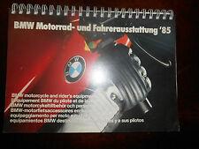 BMW 1985 Motorrad-und Fahrerausstattung Motocycle and Rider's Equipment Catalog