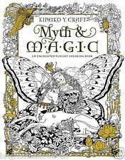 Myth Magic Fairies Angels Heroes Fantasy Mystical Adult Colouring Book Creative