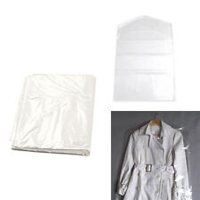 10pc/Set Plastic Dry Cleaning Bag Transparent Clothing Dustproof Cover Bag