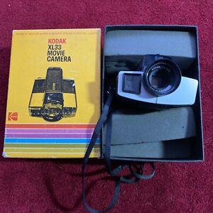 Vintage Untested Kodak XL33 Movie Camera In Box - Slight Battery Case Corrosion