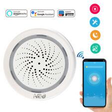 Smart Wireless WiFi Siren Alarm Temp humidity Sensor Home Security System 120dB