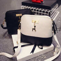 Women Girl Tote Messenger Bags Lady PU Handbag Cross Body Bag Shoulder Bag Mini