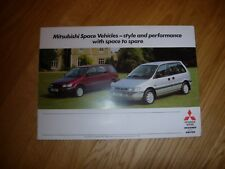 Mitsubishi Space Runner & Space Wagon Sales Brochure 1991