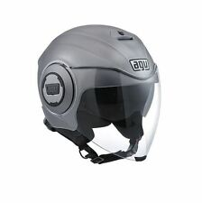 Casco Demi-jet Agv Fluid Solid Matt Grey S