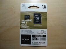 Sony 16GB Class 10 Micro SDHC R70 Memory SD Card
