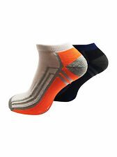 Mens Cushioned Sole Ankle Trainer Liner Sports Socks with Comfort Padding 2058O