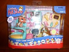Littlest Pet Shop Cozy Care Center Ferret 334 St Bernard Dog 335 Black Cat 336