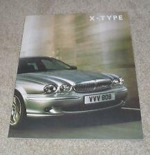 Jaguar X Type Rare Large Format Brochure 2007 - 2.0D 2.2D 3.0 S SE Sport Premium
