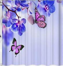 Bath Shower Curtain Bathroom Bathtub Cover Flower Painting Home Art Decoration