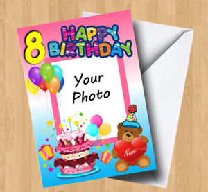 Personalised Own Photo/Picture (Son/Daughter/Grandson/Niece) Birthday Card