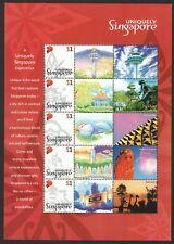 SINGAPORE 2005 UNIQUELY SINGAPORE MYSTAMP SOUVENIR SHEET OF 5 STAMPS IN MINT MNH