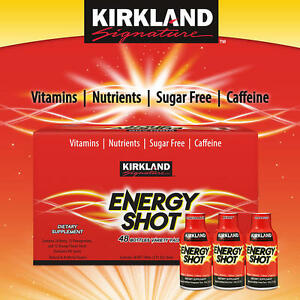 Kirkland Signature Energy Shot Dietary Supplement Variety Pack 48 bottles