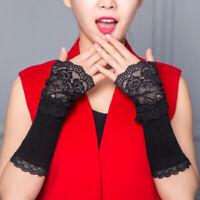 Winter Arm Warmer Hand Women Fingerless Long Gloves Lace Arm Sleeve Arm Warmer