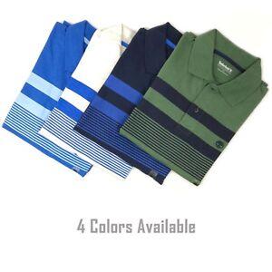Timberland Men's Short Sleeve Striped Jersey Polo Shirt A1LEV