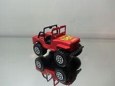 1983 Matchbox Jeep Laredo 4x4 W/O Top - Red W/ Eagle Tampo - Mint Loose 1/59