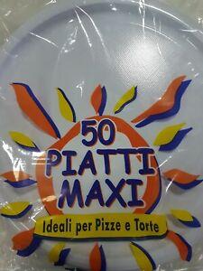 5X PIATTO PIZZA PLASTICA BIANCO PEZZI 20 USA E GETTA MONOUSO PUB PIZZERIE