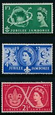 GB 1957 WORLD SCOUT JUBILEE JAMBOREE SET OF 3 FINE MINT MNH SG557-SG559