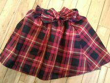 Girls Size 7/8 Christmas Skirt Holiday Plaid Red Black EUC
