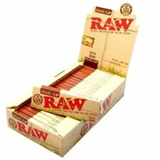 Raw Unrefined Organic 1 1/4 Size Cigarette Rolling Papers Full Box Of 24 Packs