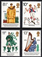 GB 1976 British Cultural Traditions SG1010 - 1013 Complete Set Unmounted Mint