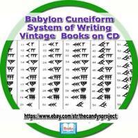Babylon Cuneiform System of Writing Assyrian Egypt Mythological Vintage Book DVD