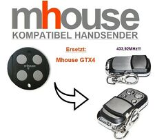 MHouse GTX4 kompatibel handsender, 4-Kanal 433,92MHz TOP Qualität Ersatz!!!