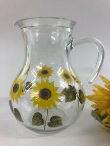 Individually hand Painted Sunflower Jug