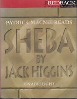 Jack Higgins Sheba 4 Cassette Audio Book Unabridged Thriller Patrick Macnee