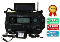 Voyager Pro Digital Hand Crank AM FM Shortwave Radio Solar Camping Kaito Surviva