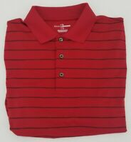 Grand Slam Golf Polo Golf Shirt Men's Size Large Red Striped Short Sleeve Casual