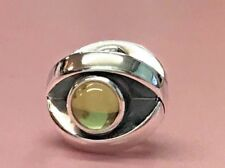 PANDORA | GREEN PERIDOT EYE CHARM 790127PE ✪NEW✪ AUTHENTIC RETIRED RARE 925 ALE