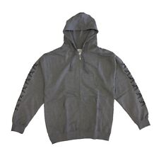 Fourstar Skateboards Clothing Street Pirate Chain Mens Grey Zip Hood Clearance