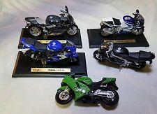 Modellini moto 1/18 Maisto Yamaha-Kawasaki-Triumph-Suzuki-Mv Agusta