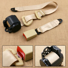 Beige Car 3Point Safety Seat Belt Lap & Diagonal Belt Nylon Polyester Adjustable