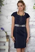 Edas abito Linate vestito DENIM tubino dress 54 taglie forti plus size cintura