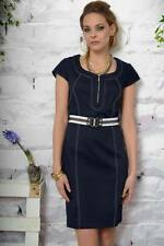 3ee5a8f22b0c Edas abito Linate vestito DENIM tubino dress 54 taglie forti plus size  cintura