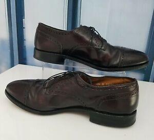 Allen Edmonds Shoes SANFORD Oxfords Burgundy Leather Lace-up Size 10.5 D