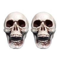 18 Stück Halloween Schädel/Totenkopf Deko Tischdeko Skelett Grusel Figur Horror
