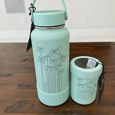 Hydro Flask Hawaii Limited Edition Seafoam Palm Trees 32 Oz & 12 Oz Can Cooler