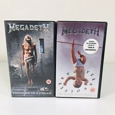 MEGADETH | MUSIC VHS TAPES x2 | EXPOSURE OF A DREAM | REVOLVER
