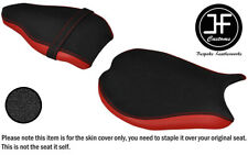 DSG3 GRIP & RED VINYL CUSTOM FOR DUCATI 848 1098 1198 FRONT REAR SEAT COVERS