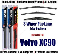 3-Pack Wipers NeoForm Front + Rear - fit 2012-2014 Volvo XC90 - 162413/2213/14D