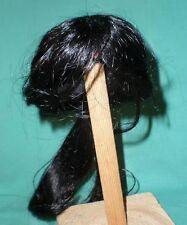 "doll wig/ human hair 11"" to 12"" black, pony tail"