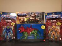 MOTU 2020 Origins Masters of the Universe HE-Man Skeletor Battle Cat Bundle LOT
