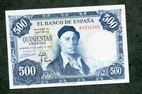 BILLETE 500 PESETAS 1954     SERIE  K 4276562  SC