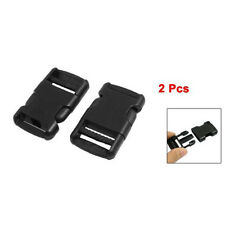 "2 Pcs 1"" Packbag Black Plastic Side Quick Release Buckle Replacement AD"