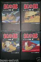 JAPAN Porco Rosso / Kurenai no Buta Film Comic 1~4 Complete Set