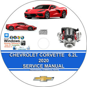 Chevrolet Corvette 6.2L LT2 2020 2021 Factory Workshop Service Repair Manual CD