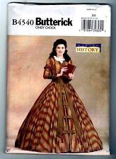 Butterick B4540 Cindy Chock Victorian Civil War Dress Pattern Uncut 8 10 12 14